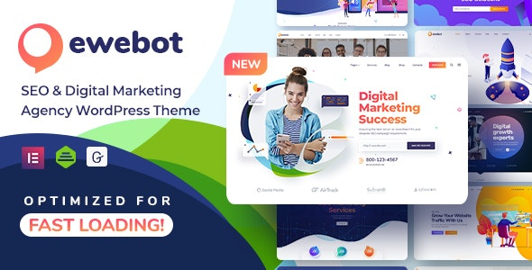 Nulled Ewebot v2.3.1 - SEO Digital Marketing Agency WordPress