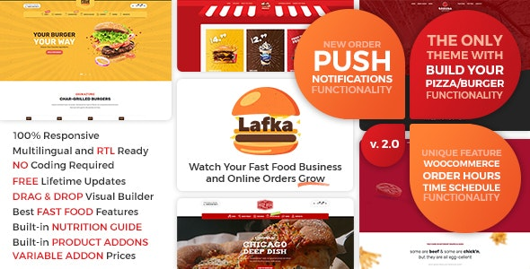 Nulled Lafka v2.4.1 - WooCommerce Theme for Burger Pizza Fast Food Delivery & Restaurant WordPress