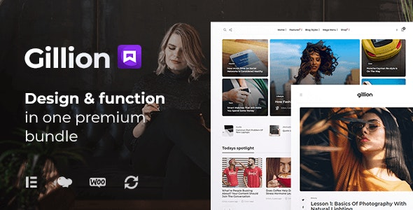 Nulled Gillion v4.0 - Multi-Concept Blog Magazine & Shop WordPress Theme
