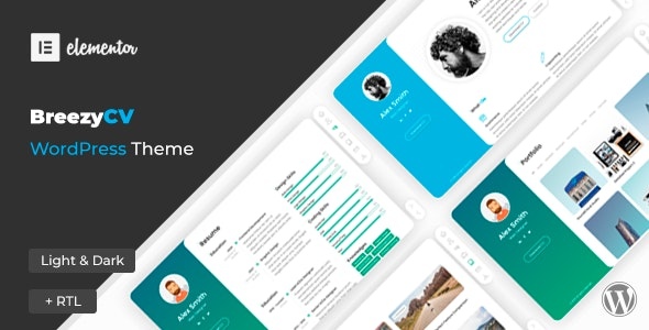 Nulled BreezyCV v1.5.1 - CV Resume WordPress Theme