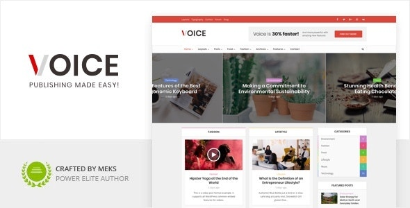 Nulled Voice v2.9.8 - Clean News Magazine WordPress Theme