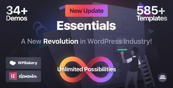 Nulled Essentials v1.2.9 - Multipurpose WordPress Theme