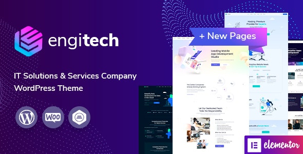 Nulled Engitech v1.3 - IT Solutions & Services WordPress Theme