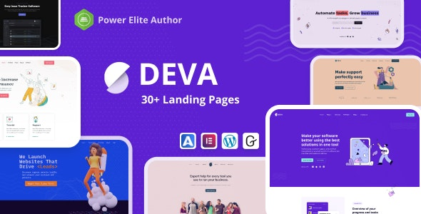 Nulled Deva v1.0.5 - 30+ Landing Pages WordPress Theme